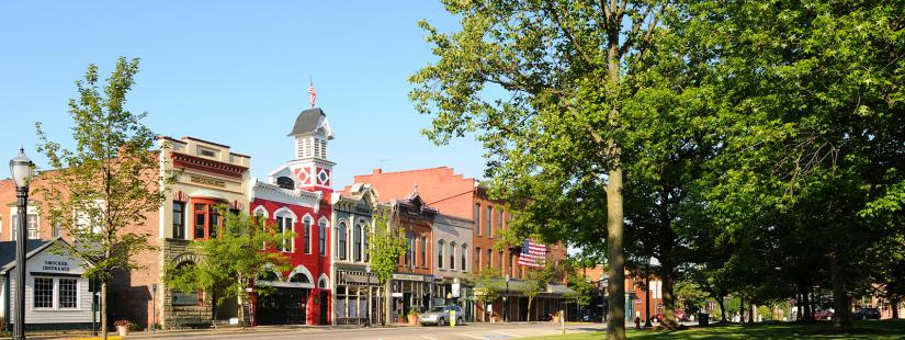 Downtown historic business area